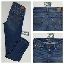 American Eagle Womens Skinny Stretch Distressed Low Rise Jeans Size 2 26 x 30