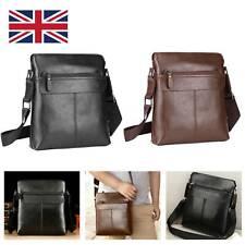 Men Leather Bag Briefcase Business Messenger Crossbody Shoulder Bags Brown&Black