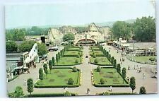 The Mall at Coney Island Amusement Park Cincinnati Ohio Vintage Postcard A94