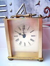 CARRIAGE CLOCK, ESTYMA, ROMAN NUMERALS, QUARTZ