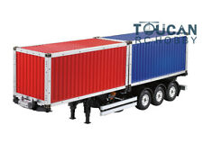 Hercules 1/14 Scale 40 Feet 3 Axle RC Metal Truck Trailer W/ Two Containers