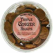 Trader Joe's Triple Ginger Snaps Cookies  Crystallized Ginger 14oz - 100% Fresh