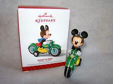 "New Hallmark Keepsake Disney Mickey Mouse Born to Ride 4"" Ornament"
