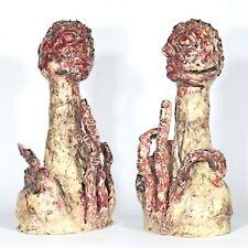 """Skulptur """"Denker""""37cm Unikat Keramik Andreas Loeschner-Gornau"""