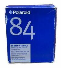 Polaroid 84 Polapan Black & White Instant Film ISO 100, 10 Prints Sealed Expired