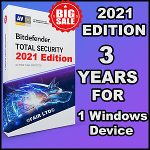 BITDEFENDER TOTAL SECURITY 2021 - 3 YEARS 1 DEVICE - ACTIVATION DOWNLOAD