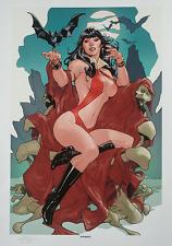 SIGNED Terry Dodson SDCC Exclusive Artist Proof AP Sideshow Art Print Vampirella
