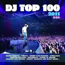 DJ TOP 100 2011 (TIESTO, DEADMAU5, DAVID GUETTA, MARTIN SOLVEIG,...) 5 CD NEUF