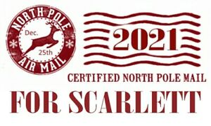 Personalised Christmas North Pole Labels STICKERS 21 per A4 sheet