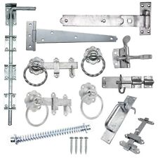 More details for gate hinges drop bolt spring catch ring latch plain twisted galv free fixings