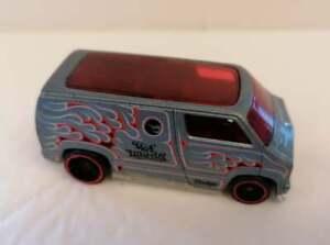 Hot Wheels Custom '77 DCC 2007 Gray Dodge Van Car Toy Diecast, First Edition