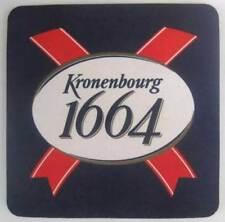 KRONENBOURG 1664 BEER COASTER, MAT, Brasseries Kronenbourg, Vosges Mtns., FRANCE
