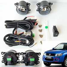 Front Driving Fog Light Kit Fit 06-14 SUZUKI Grand Vitara Clear Lens Switch Wire