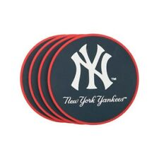 NEW YORK YANKEES Coaster Set - 4 Pack heavy-duty vinyl Officially Licensed