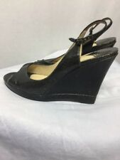 Women's Shoes JIMMY CHOO LONDON Black Patent Leather Heels Wedges Size 40