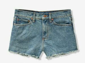 PINK Victoria's Secret Medium Wash High Waist Cut Off Jean Shorts - 28  NWT