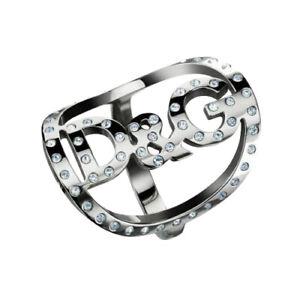 NEW DOLCE & GABBANA D&G FASHIONABLE CRYSTAL RHINESTONES STRASS RING WOMEN'S !