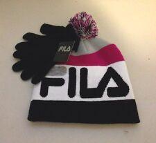 2pc. NWT Youth Girl's FILA Winter Knit Hat & Gloves Set, SZ-One Size/ NICE!!