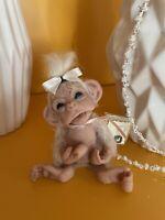 Ooak Baby Affe Schimpanse Handgefertigt Einzelstück Äffchen Monkey Neu