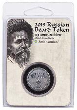 Smithsonian Russian Beard 10 gram Silver Antiqued Token GEM BU OGP SKU55978
