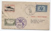 1936 Hewitt NJ Rocket Flight with cinderella stamp [y1911]