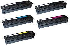 5 Toner per HP ce320a ce321a ce322a ce323a COLOR LASERJET cp1525