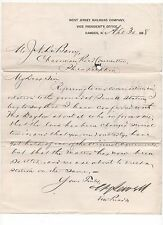 Medal of Honor Recipient~ Civil War ~ William Sewell ~ RailRoad Letter Signed