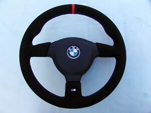 BMW M TECHNIC 2 STEERING WHEEL E36 M3, NEW ALCANTARA, WITH RED ALCANTARA MARKING
