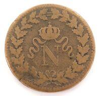 .1815 FRANCE FRENCH UN DECIME BB STRASBOURG MINT. NAPOLEON 1
