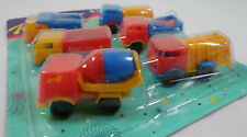 VTG 80's LOT OF 6 x 2'' TRUCKS PLASTIC TOY CARS PENNY TOYS KARAMPOLA LUCKY CUP D