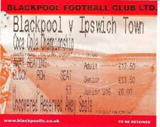 Ticket - Blackpool v Ipswich Town 19.01.08