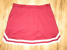 "XL- XXL Adult Real Cheerleader Uniform Skirt 34"" Waist Maroon Metallic Silver"