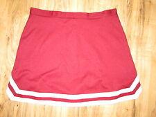 "XL- XXL Adult Real Cheerleader Uniform Skirt 34"" Waist Maroon Metallic Silver"