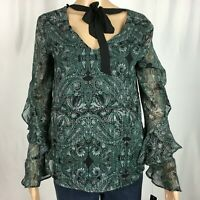 New BCX Top Shirt Green Size S NWT
