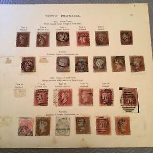 GB QV postmark Collection