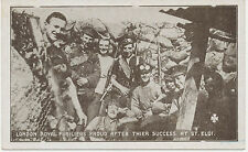 WWI mint postcard LONDON ROYAL FUSILIERS PROUD AFTER THIER SUCCESS AT ST. ELOI