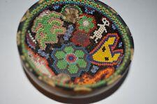 "Orig Pre Colombino Huichol Bowl, Moneda Manual de Resina 4"" Prov"
