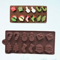 Christmas Candy Cake Fondant Mold Silicone Chocolate Decoration Mould Sugarcraft