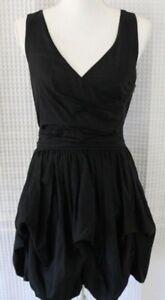 Jenny Han dress bubble skirt BLACK mismatched bridesmaid graduation party SIZE S