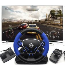 Game Gaming Vibration Racing Steering Wheel Pedal for PS2 PS3 PC USB Plug & Play