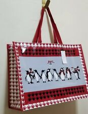 VERA Bradley PLAYFUL PENGUINS RED MARKET Tote shopping or gift bag XL