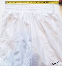 Vintage Nike Mens White Shorts Sports Basketball Athletic Women's Teens Clothing