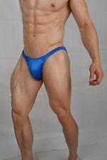 MEN'S SOFT BLUE POSING SUIT TRUNKS BODYBUILDER Muscle  $54.00 MEDIUM