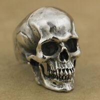 Gothic Skull Silver Men's Fashion Jewellery Stainless Steel Punk Finger Rings