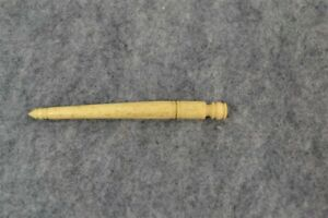 antique sewing needle case carved bovine bone 19th c 1800s