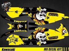 Kit Déco pour / Decal Kit for Jet Ski Kawasaki 800 Sxr - Punk Skull