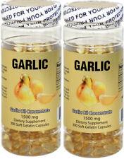 2 x Nu-Health Garlic Oil (300 Softgels / 1500 MG) 600 softgels total