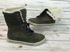 Timberland Youth Boys Girls 5.5 Pannaway Roll Top Boots Brown Plaid Earthkeepers