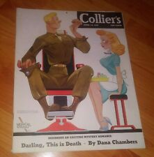 Collier's Magazine April 14, 1945 WWII Issue **This is Death by D. Chambers**
