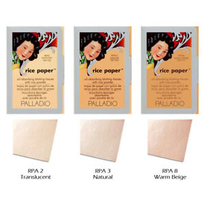 """1 PALLADIO Rice Paper Blotting Tissues with Rice Powder """"Pick Your 1 Color""""*Joy*"""